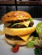 Deer + Almond burger
