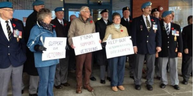 Rally held to protest closing of Corner Brook Veterans Affairs office