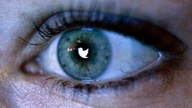 An illustration picture shows the Twitter logo reflected in the eye of a woman in Berlin, November 7, 2013. Twitter Inc priced its initial public offering above its expected range to raise at least $1.8 billion, in a sign of strong investor demand for the most highly anticipated U.S. public float since Facebook Inc.     (GERMANY - Tags: BUSINESS TELECOMS) - RTX153N2