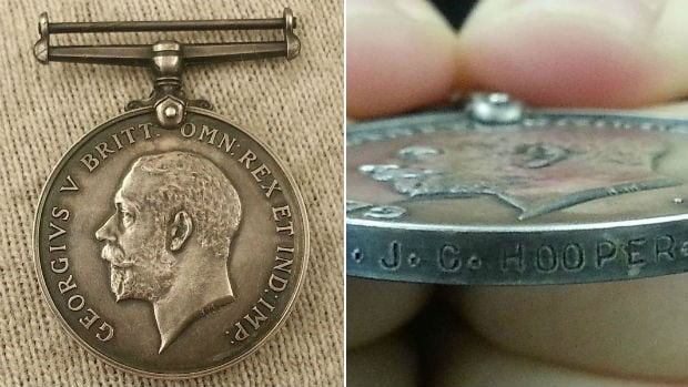 Mysterious war medal raised questions about owner.
