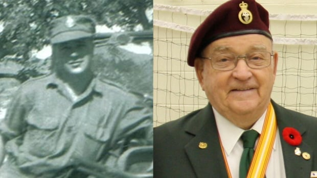 Romeo Daley, shown at left during his 17 months serving with the Canadian Forces in the Korean War, remembers intense battles fought against waves of Chinese troops at night.
