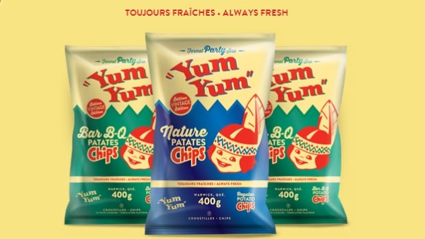 Krispy Kernels snack foods removed the logo from their Yum Yum potato chips during the Oka Crisis in 1990.