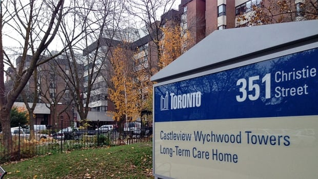 The Castleview Wychwood Towers nursing home was the scene of a homicide Saturday morning, Toronto police say. An 87-year-old resident was found dead on the scene.