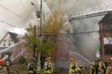 Lebreton Street North firefighters (Nov. 10, 2013)