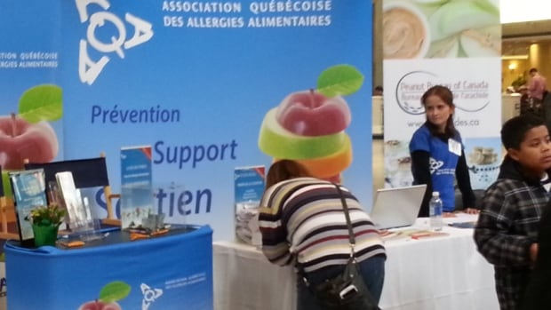 The Quebec food allergy association held a conference Saturday. It says about 2,000 people attended to find out more about treatment options and products on the market.