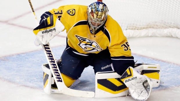 Nashville Predators goalie Pekka Rinne is 4-4-1 with a 2.31 goals-against average and a .917 save percentage for Nashville this season.