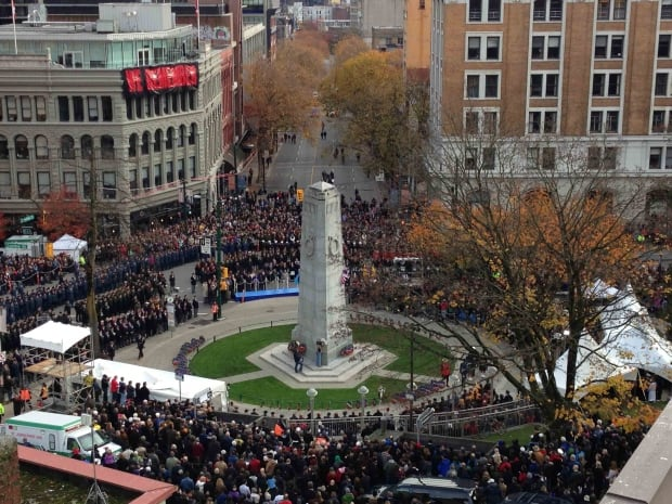Victory Square Remembrance Day 2013