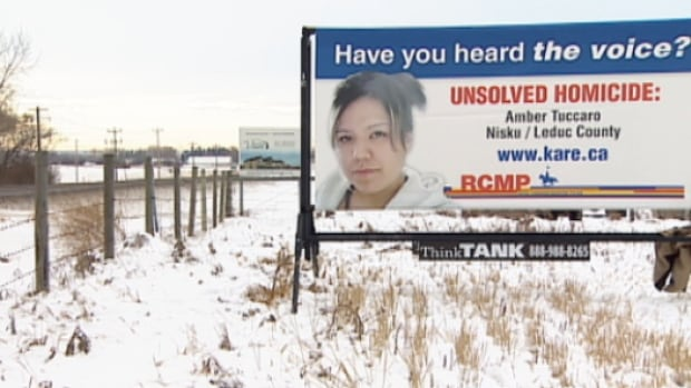 RCMP have placed two billboards near Leduc in hopes of generating new tips in the death of Amber Tuccaro.
