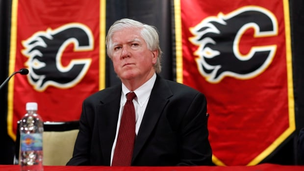 Calgary Flames president of hockey operations Brian Burke said on occasion he would confront teammates if he thought they were being timid during a game, but wouldn't consider that bullying.