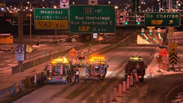 A committee set up in 2011 to coordinate major road repairs like this emergency work on the Lafontaine tunnel has not met since the PQ government's election 14 months ago.