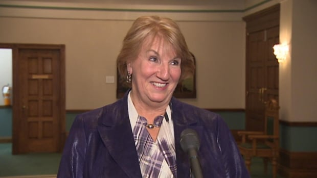 "Premier Kathy Dunderdale describes the scandal surrounding Toronto Mayor Rob Ford as ""shocking."""