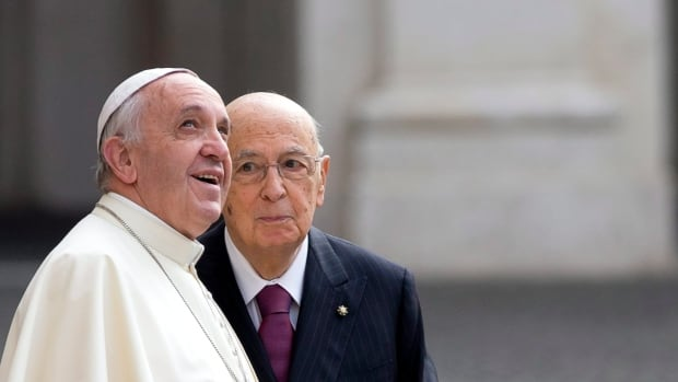 Pope Francis, left, met with Italian President Giorgio Napolitano, right, on Thursday but had to cancel his morning audiences on Friday because of illness. News agencies variously reported that he had the cold or the flu.