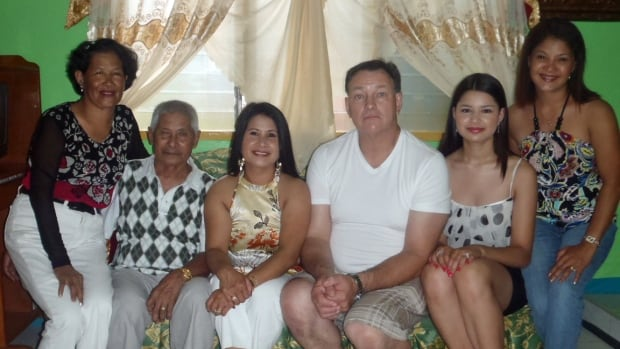 Thunder Bay resident Teresita Marsh says she is relieved her family in the Philippines is safe and sound. In this picture taken on a previous visit are: Basilisa Morpe, Eustaquio Juntilla, Teresita Marsh, Patrick Marsh, Jacqueline Marsh and Angelica Juntilla.