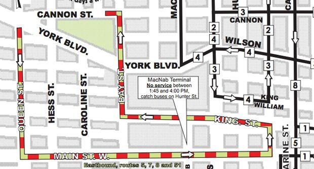 Hamilton Santa Claus Parade route