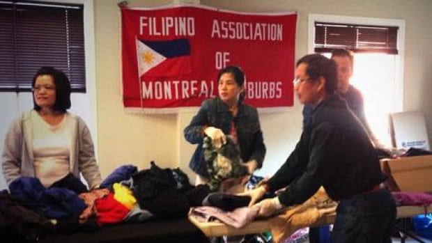 The Filipino Association of Montreal are collecting donations and raising money for victims of Typhoon Haiyan, also called Yolanda.