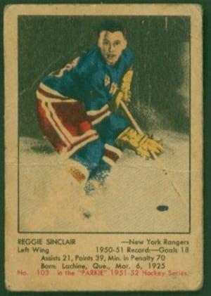 Reg Sinclair card