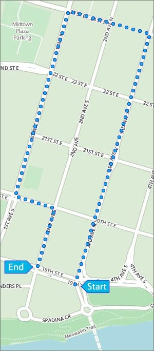Saskatoon Parade Map