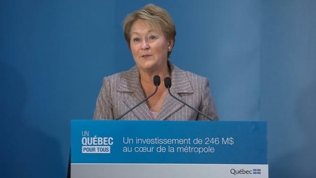 Premier Pauline Marois says a new addition to the  Îlot Voyageur will help revitalize Montreal's downtown.