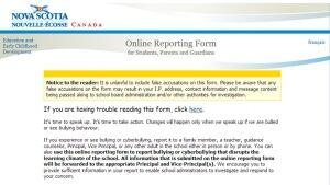 Bullying reporting website