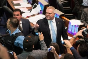 Doug Ford heads into council chambers