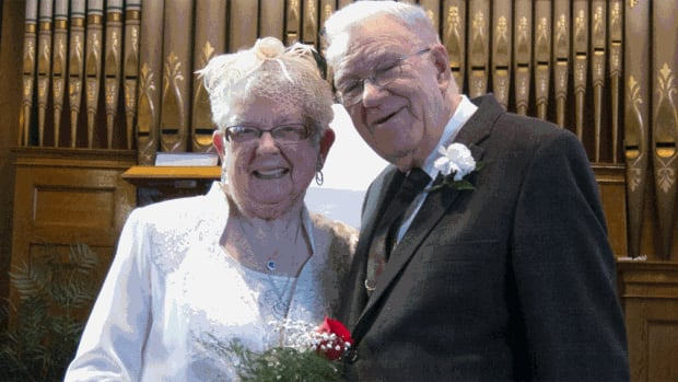 Carol Harris and George Raynes got married on the weekend, 75 years after their first kiss.