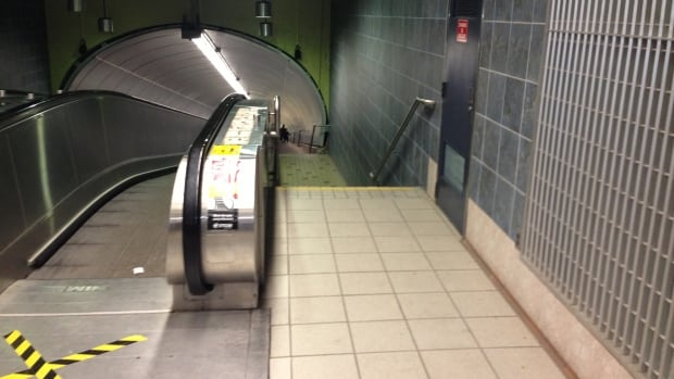 Repair issues with Beaudry station's moving sidewalk have been a long-term frustration for passengers