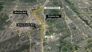 Rapid transit map