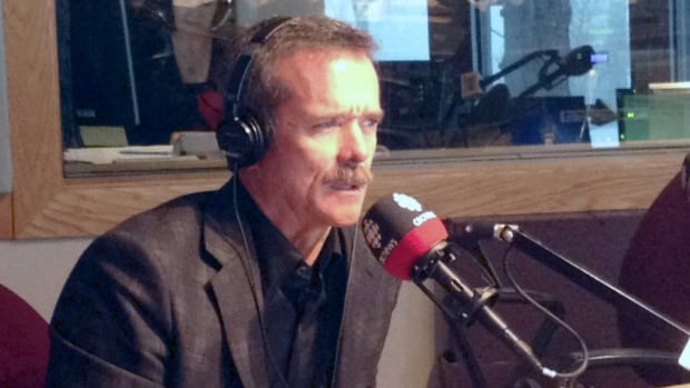 The Canadian was in Calgary on Tuesday to talk about his new book, An Astronaut's Guide to Life on Earth.