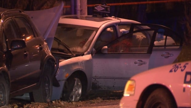 A taxi driver was found unconscious in his car in Côte-des-Neiges. Officers said his injuries didn't coincide with what would be expected from a collision.