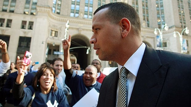 Alex Rodriguez, shown here arriving at Major League Baseball's New York off ice on Oct. 1, is seeking to have his 211-game suspension overturned.
