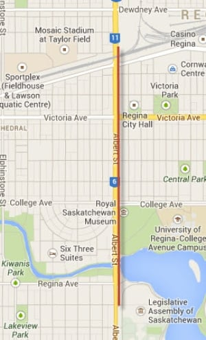 Grey Cup Parade Map