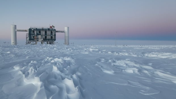 The IceCube Laboratory at the Amundsen-Scott South Pole Station in Antarctica is the world's largest neutrino detector. Its computers collect raw data on neutrino activity from sensors in the ice that look for light emitted when neutrinos strike.