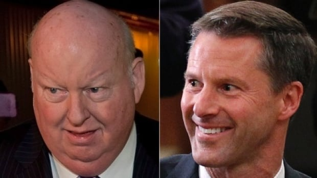 RCMP documents released this week shed new light on communications between Senator Mike Duffy, left, and former PMO chief of staff Nigel Wright as Wright tried to manage the repayment of Duffy's Senate expenses.