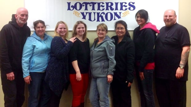 A group of eight co-workers in Faro, Yukon, who hit it big on the Nov. 1 Lotto Max draw will share half of the $50 million total prize.