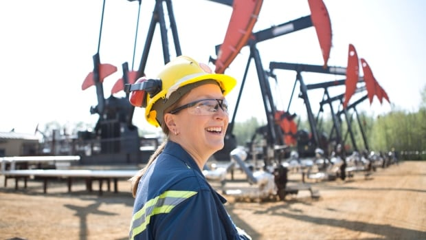 Thermal operations superintendent Ginette MacIsaac poses in handout photo from Shell Canada in Peace River, Alta. A National Energy Board report says Canadian oil production will increase 75 per cent by 2035.