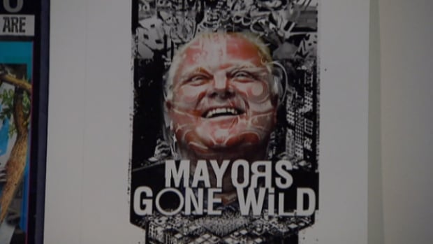 "The t-shirts have messages like ""Mayors gone wild"" and ""Toronto - Where the wild things are."""