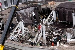 APTOPIX Latvia Roof Collapse