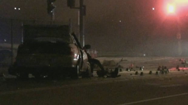 Police have confirmed that one person is dead after an overnight two-vehicle collision in Richmond.