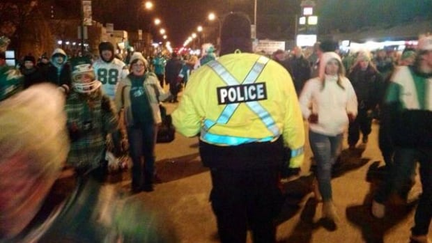 Regina police patrol streets following Grey Cup