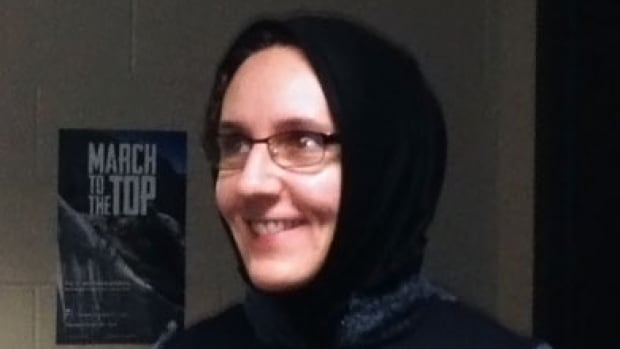 Concordia University history professor Nora Jaffary isn't Muslim, but she's wearing the hijab to protest a bill that would see teachers banned from wearing the veil.