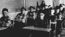 Boys in a classroom c. 1945
