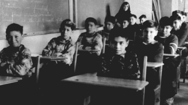 Many former Indian residential school survivors have been unable to proceed with claims because of the difficulty obtaining the medical records needed. Above, boys sit in a classroom at St. Anne's Indian Residential School in Fort Albany, Ont., circa 1945.