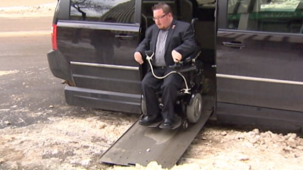 Zachary Weeks says it can be hard to find accessible parking spots in Edmonton that are free of snow in the winter time.