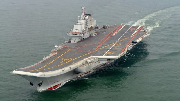 Chinese aircraft carrier Liaoning is shown in a test cruise in May 2012. China dispatched the vessel to the South China Sea on Tuesday. The region contains several disputed islands and oil and gas fields that are claimed by China and neighbouring countries such as the Philippines, Malaysia and Taiwan.