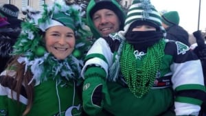Thousands of Rider fans rally in Regina