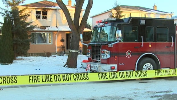 Fire crews were called to this house in the 500 block of Cordova Street, in Winnipeg's River Heights neighbourhood, at 2:41 p.m. Tuesday.