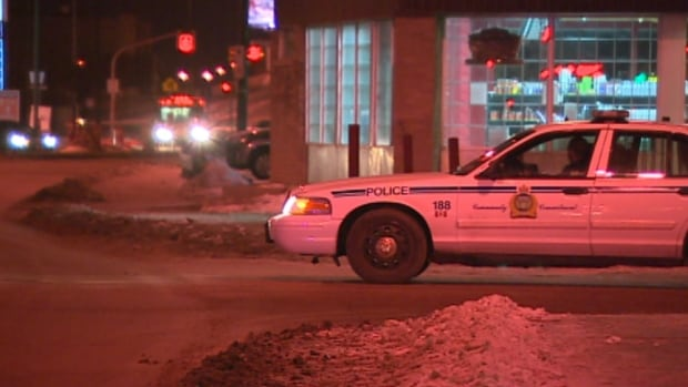 Winnipeg police were seen on Isabel Street and Elgin Avenue on Tuesday evening, after a male was stabbed.