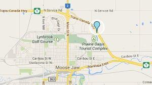 Map of Moose Jaw crash
