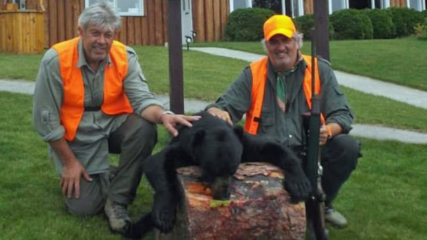 Tourism outfitters in northern Ontario want to see more international hunters like these two men, who were hosted by Betty McGie at Watson's Algoma Vacations. The hunters, who hail from Italy, are pictured at Watson's Pine Portage Lodge.