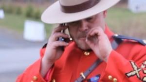 RCMP Cpl. Ron Francis smoking marijuana